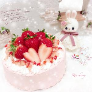 苺のショートケーキ☆羊毛フェルト☆ぬい撮り