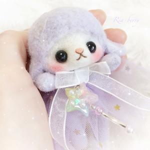 ゆめかわメイちゃんと星のステッキ☆羊毛とレジン
