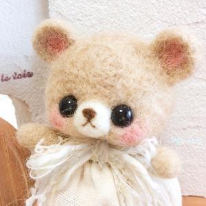 水色リボン☆ベビーメルちゃん☆羊毛フェルト