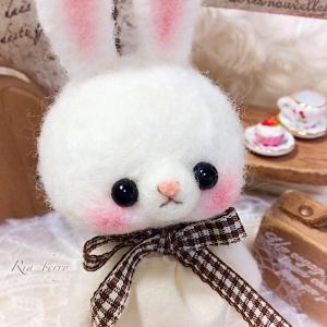 うさぎのリズ☆ナチュかわ☆羊毛マスコット
