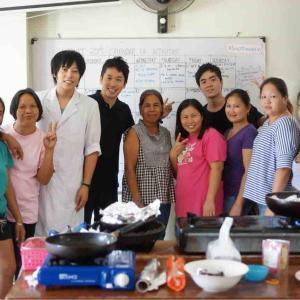 貧困地域で料理教室