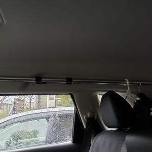 車にウェットハンガーをつけました。