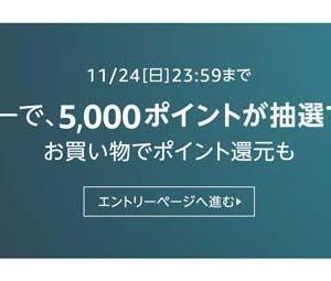Amazonポイント5000円分が5000名様に当たる!アマゾン ブラック フライデーはこちら