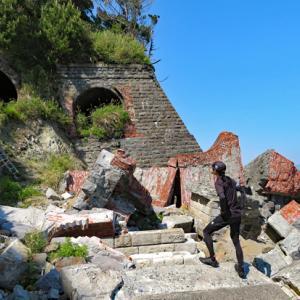 千框の棚田と大崩海岸・旧石部隧道坑門跡