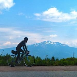 日和田高原とチャオ御岳から乗鞍岳と御嶽山を望む