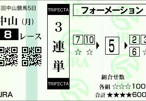 中山8R結果