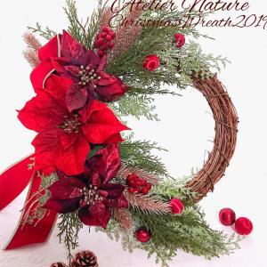 本日10/1ご予約開始♪Christmas wreath1DAYレッスン2019♪