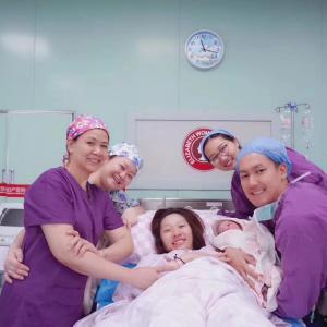 私がまた広州エリザベス産婦人科病院で出産した。