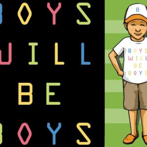 男の子とTシャツ