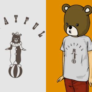 玉乗りとクマとTシャツ
