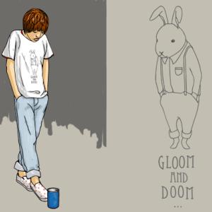 悲観とウサギとTシャツ