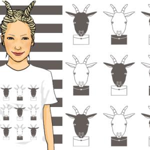 シロヤギとクロヤギとTシャツ