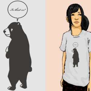 興味とクマとTシャツ