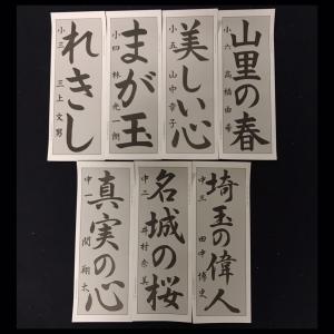 令和3年 2021年 第73回 埼玉県書き初め展 参考手本課題が解禁されました。