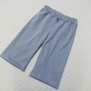 手芸ナカムラさんのはぎれ綿ニットセットから,毎日ニットパンツ。