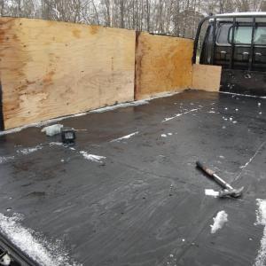 2tトラックの荷台を排雪用に整備しました!