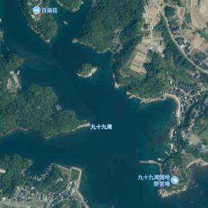 九十九湾(石川県 内浦 釣り)百楽荘のあたり