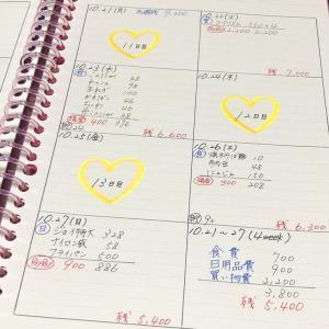 【家計簿】10月分の生活費を公開!
