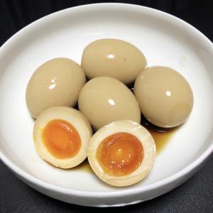 【貧乏飯】主夫作、煮卵ごはん。