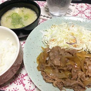 【貧乏飯】牛肉と玉ねぎだけで、すき焼き風。