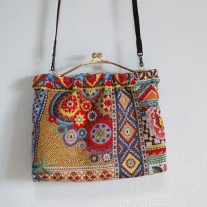 フランス製 高級ジャガード サフェコでバッグ作ってみました。 animo