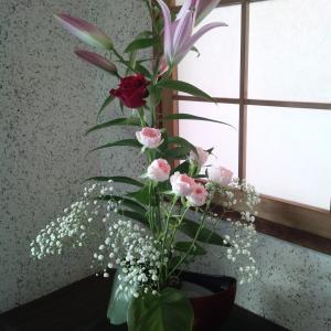 ひさしぶり、生け花! してみました。