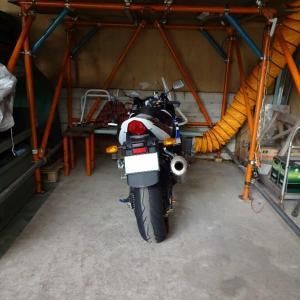 バイク小屋配置の小変更