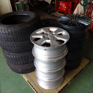 タイヤ整理の準備