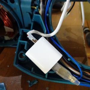 スライド丸のこのレーザー修理(電源準備編)