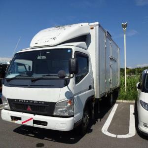 ミニユンボが機能停止と構内用トラックの引き取り行脚