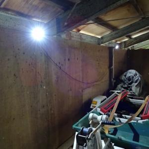 保管場所の照明ほか調整と雨仕舞の確認