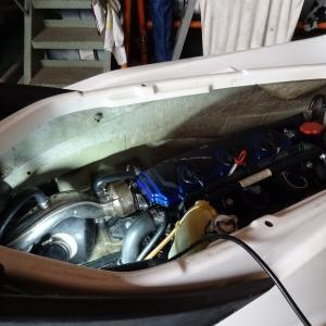 4TECのエンジン再始動とスコープゲートの塗装