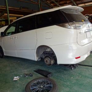 エスティマHVのタイヤとオイルを丁寧に交換する