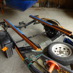 ジェット用トレーラーのウッドレーン作り直し
