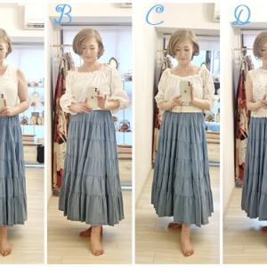 ティアードデニムスカート4つのコーディネート