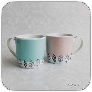 結婚のお祝いに♪北欧風マグカップ♪