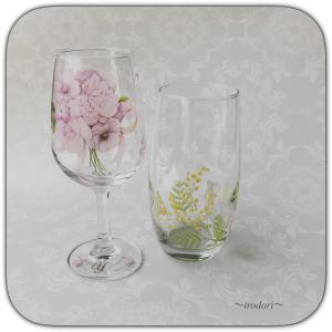一人暮らしの生活も可愛いグラスて華やかに♪