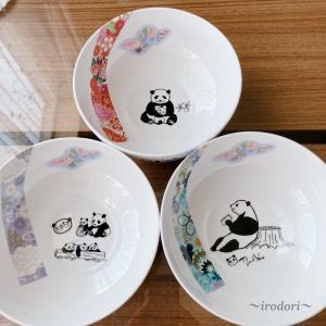 パンダと和柄でお丼♪