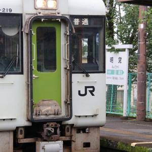 JR八高線明覚駅で