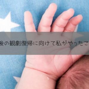 宝塚歌劇は産後何ヶ月から見にいけるか?〜準備と結果〜