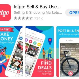 新たに始めた売買アプリ