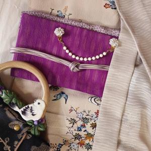 紋紗薄羽織で西陣織元コレクションTOKYO2021へ☆