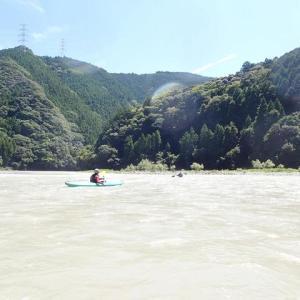 久しぶりに気田川でカヤッキング