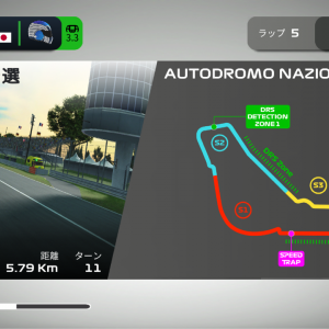 イタリアGPをゲームで走ってみよう!