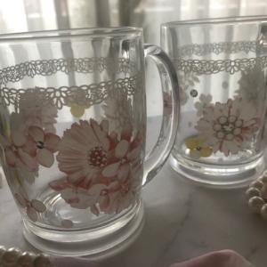 ポーセラーツ:焼成ご依頼作品★ガラスのマグカップ