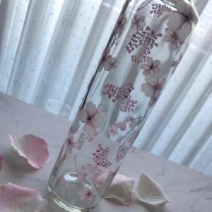 ポーセラーツ:可愛いガラス瓶☆焼成ご依頼作品★