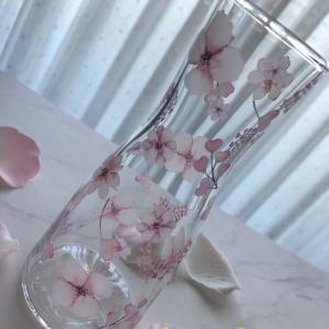ポーセラーツ:焼成ご依頼作品★ガラスのフラワーベース