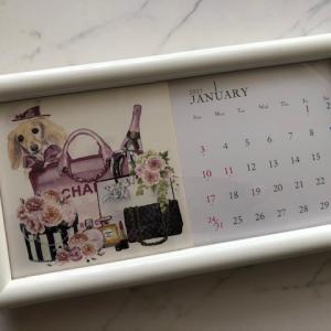 ポーセラーツ:生徒さま作品★来年のカレンダーお気に入りのタイルアートで☆
