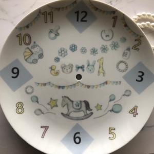 ポーセラーツ:生徒様作品☆上絵の具装飾コース☆時計