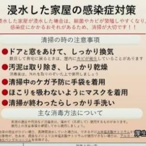 浸水住宅は感染症に注意 マスクや長袖 手袋の用意を | NHKニュース